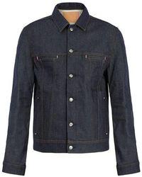 Acne Studios - Pass Point-collar Denim Jacket - Lyst