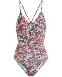 Ephemera   Liberty Classic Laced-back V-neck Swimsuit   Lyst