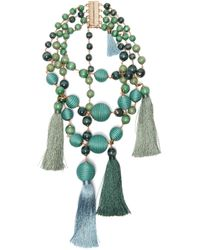 Rosantica By Michela Panero - Colonia Layered Bead & Tassel Necklace - Lyst