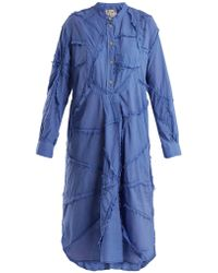 By Walid | Patchwork Cotton Shirtdress | Lyst