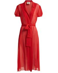 Adriana Degreas - X Charlotte Olympia Pin-up Silk-georgette Dress - Lyst