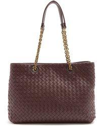 Bottega Veneta - Intrecciato Medium Leather Tote - Lyst