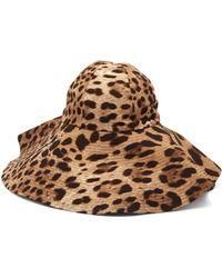 Dolce & Gabbana - Leopard Print Felt Hat - Lyst