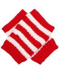 Gucci - Striped Wool Fingerless Gloves - Lyst