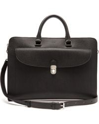 Tod's - Extra Slim Pebbled Leather Briefcase - Lyst