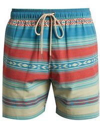 Faherty Brand - Aztec Striped-print Shorts - Lyst