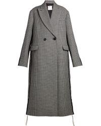 en en carreaux Stella Mccartney à Lyst laine Manteau coloris awvnB7q0