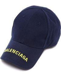 Balenciaga - Logo Embroidered Cotton Cap - Lyst