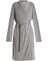 d37fa12b07 Lyst - Hanro Robe Selection Terry-towelling Robe in Gray