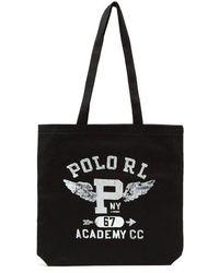 Polo Ralph Lauren - - Logo Print Tote - Mens - Black - Lyst