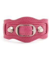Balenciaga - Classic Metallic Edge Leather Bracelet - Lyst