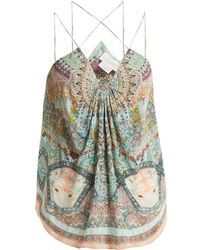 Camilla - Sisters Of The Marigold Silk Cami Top - Lyst
