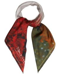Mary McCartney - - Profile On Red Print Silk Scarf - Womens - Red - Lyst