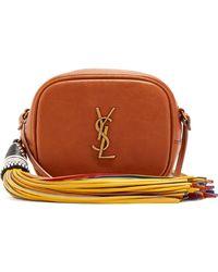 Saint Laurent - Monogram Blogger Leather Cross-body Bag - Lyst