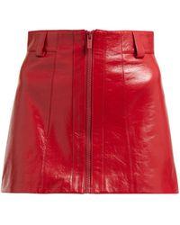 Miu Miu - Leather Miniskirt - Lyst