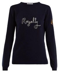 Bella Freud - Royalty Wool And Cashmere-blend Sweater - Lyst
