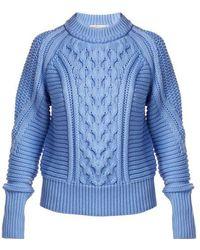 Mary Katrantzou - Lance Ribbed Cable-knit Sweater - Lyst