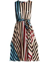 Diane von Furstenberg - Carrington Stripe Silk Blend Dress - Lyst