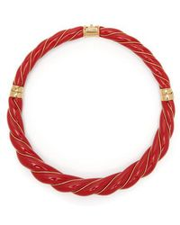 Aurelie Bidermann - - Diana Enamel Necklace - Womens - Red - Lyst