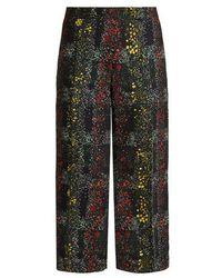 Marco De Vincenzo - Floral-print Wide-leg Trousers - Lyst