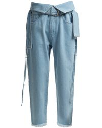 Marques'Almeida - Belt Waisted Denim Trousers - Lyst
