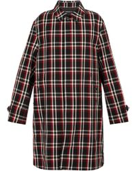 Undercover - Reflective Panelled Plaid Wool Coat - Lyst