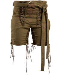 Saint Laurent - Tie-waist Lace-embellished Shorts - Lyst