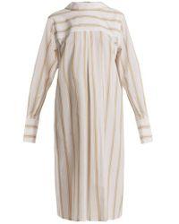 Marni - Notch-lapel Striped Cotton Shirtdress - Lyst