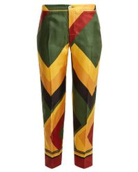 F.R.S For Restless Sleepers - Ceo Geometric-print Wide-leg Silk Pyjama Trousers - Lyst