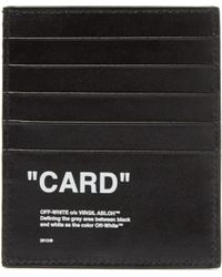 Off-White c/o Virgil Abloh - Quote Leather Cardholder - Lyst