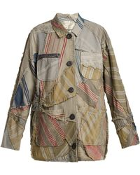 By Walid - Linda 19th Century Patchwork Linen Jacket - Lyst