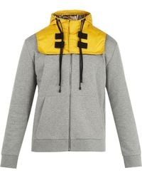 Valentino - Detachable-hood Zip-up Cotton-blend Sweatshirt - Lyst