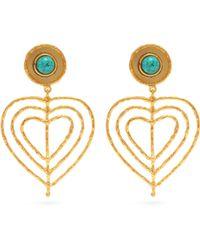 Sylvia Toledano - Valentine Heart Clip On Earrings - Lyst