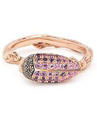 Bibi Van Der Velden - Scarab Rose Gold Ring - Lyst