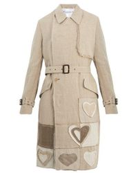 JW Anderson - Patchwork Double-breasted Linen Trench Coat - Lyst