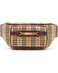 737de46f276e Burberry Small Haymarket Check Tassel Detail Tote Bag in Brown - Lyst