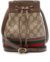 d0ee824cef10ea Gucci - Ophidia Mini Gg & Web Stripe Canvas Bucket Bag - Lyst
