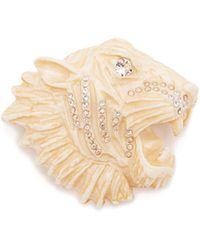Gucci - Crystal Embellished Tiger Brooch - Lyst