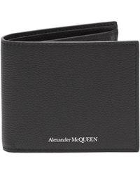 Alexander McQueen - Grained Leather Bi Fold Wallet - Lyst