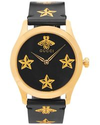Gucci - G-timeless Bee And Star-print Watch - Lyst