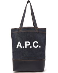A.P.C. - Axel Tote Bag - Lyst
