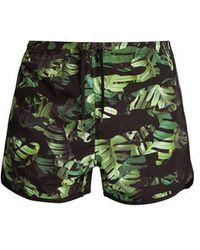 Neil Barrett - Camouflage Palm Leaf-print Swim Shorts - Lyst