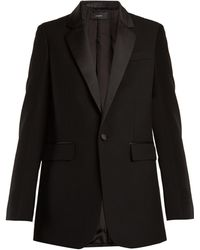Joseph | Jan Single-breasted Contrast-trim Wool Blazer | Lyst
