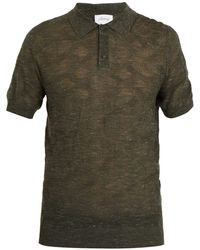 Brioni - - Point Collar Wool Blend Knit Polo Shirt - Mens - Green - Lyst
