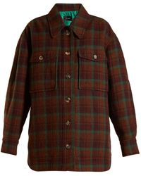 Isabel Marant - Harvey Oversized Checked Wool Jacket - Lyst