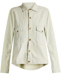 The Great | The Shirt Striped Cotton Jacket | Lyst
