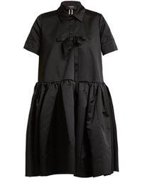Rochas - Bow-embellished Frill Duchess-satin Shirtdress - Lyst