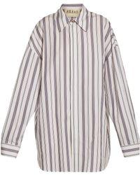 Awake | Oversized Striped Cotton Shirtdress | Lyst