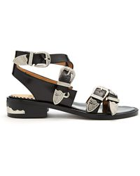 Toga - Cross-strap Buckle Leather Sandals - Lyst