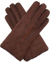 Paul Smith - Contrast Stitched Shearling Gloves - Lyst